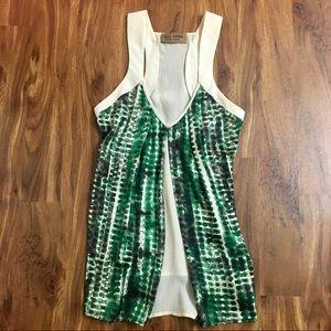 Karen Zambos Vintage Couture 100% Silk Blouse Tank