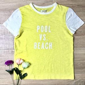 Madewell Pool V beach bright shirt contrast sleeve