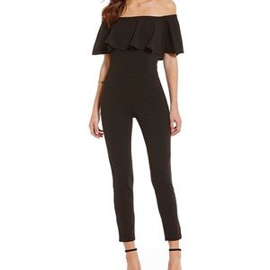 NWT Sugarlips Black Off the Shoulder Jumpsuit