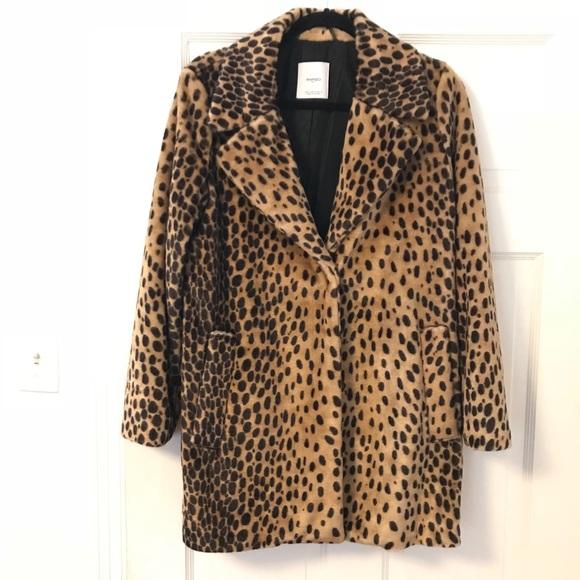 8e2f8ab309b9 Mango Leopard / Cheetah Print Coat. M_5a1cc10d7fab3a263b0ec872