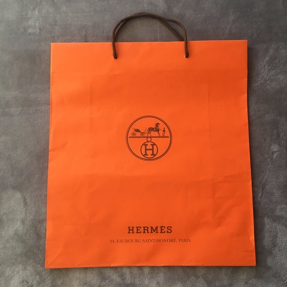 35805bad69c Hermes Bags   Large Empty Herms Paris Shopping Bag   Poshmark