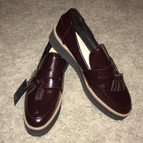 6141f8e0add Zara patent faux leather loafers