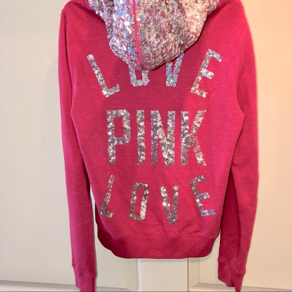 eb396cbdc133 Rare Victoria's Secret Pink Bling Sequin Hoodie. M_5a1cc2b07fab3a61d30ed082