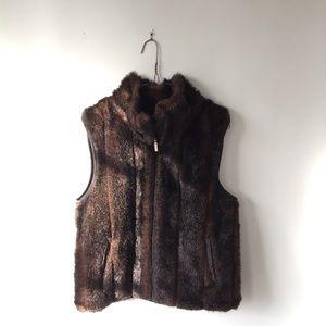 Jackets & Blazers - Reversible Macy's Faux Fur Vest