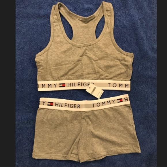 1b3f4fa96ca13 Tommy Hilfiger Bralette   Shorts Set