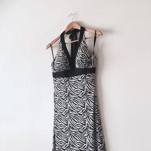 Dresses & Skirts - Zebra Print Halter Maxi Dress