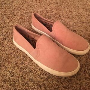 Pink suede Dolce Vita slip on sneakers