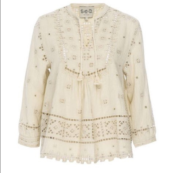 Embroidered blouse Sea New York High Quality Clearance 2018 Unisex ywrkA5GxLR