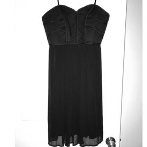 Max and Cleo black strapless cocktail dress