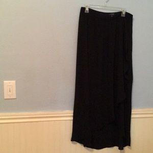 Black long flowy elegant skirt