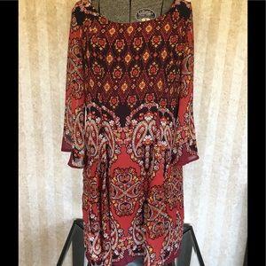 Charlotte Russe print dress.