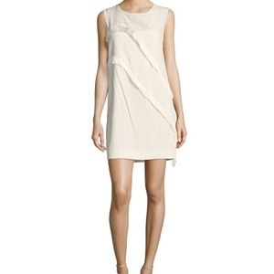 Sandro Paris Roseda Solid Jewel Neck Fringe Dress
