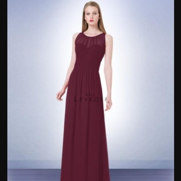 Bill Levkoff Dresses New Wine Colored Floor Length Dress Poshmark