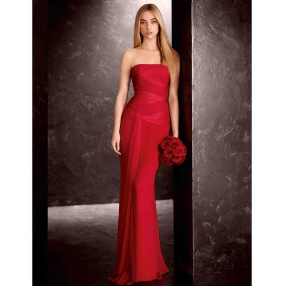 30aaa9a35758c White by Vera Wang Dresses | Vera Wang Red Dress Petite Prom Dress ...