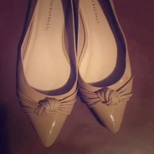 Loeffler Randall tan patent leather flats