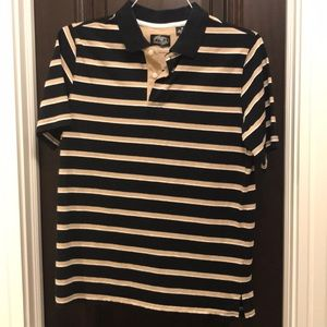 Boy's Black and Gold Polo
