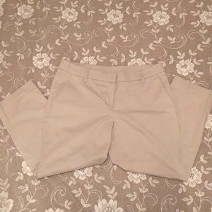 Tan Cotton/Spandex Capris