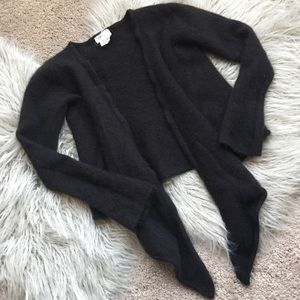 Andrea Jovine Cashmere LongSleeve Cropped Cardigan