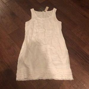 Tommy Bahama White Linen Ruffle Dress