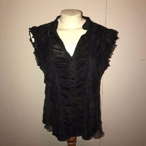Gothic Victorian Shirt Top XL