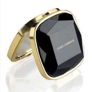 Dolce & Gabbana Compact Mirror w/ Black Travel Bag