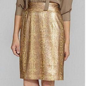 Antonio Melani Gold Pencil Skirt