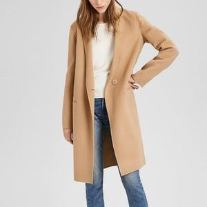 Theory Double Faced Essential Coat Tan