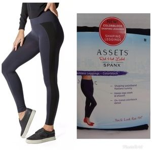 cd324267b616f6 SPANX Pants | Assets Red Hot Label Colorblock Seamless Leggings ...