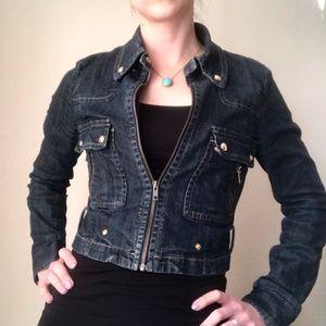 BCBG Maxazria Cropped Jean Jacket
