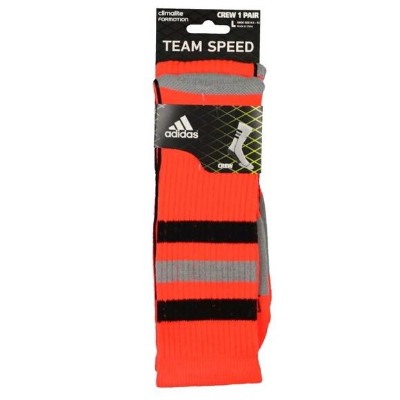 Adidas Team Speed Climate Lg Crew Sock Infrared ab2b0b6cf
