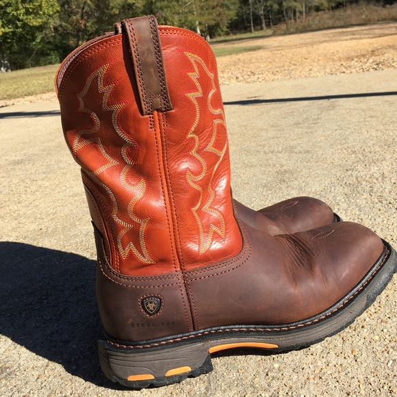 Ariat Workhog Steel Toe Boots Size 95
