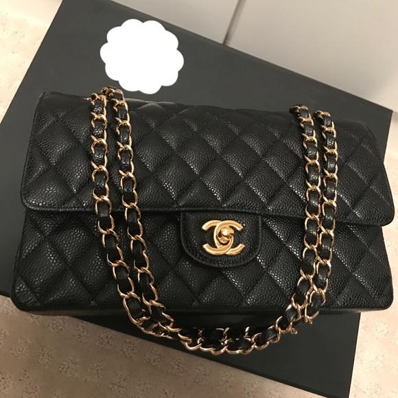 d78c41252dcf CHANEL Handbags - Chanel Timeless Classic in black caviar