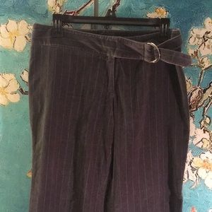 Lux striped velvet pants