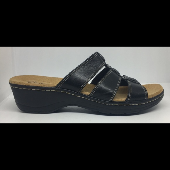 13d5efaa2c08 Clarks Shoes - Clarks Collection Womens Flat Sandals Black 10 W
