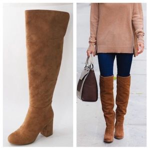 Shoes - Slim fit - Over the Knee Boots Suede