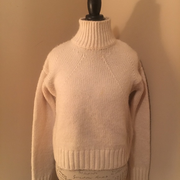 65% off Zara Sweaters - Zara chunky cream colored turtleneck ...