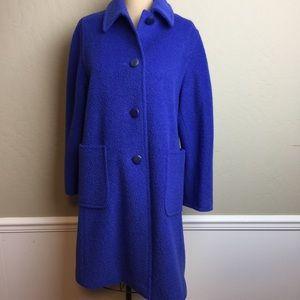 Max Mara fuzzy texture long length coat