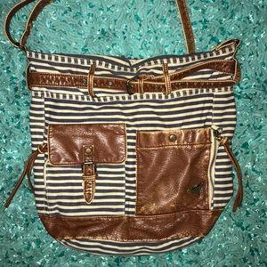Roxy blue and white striped purse