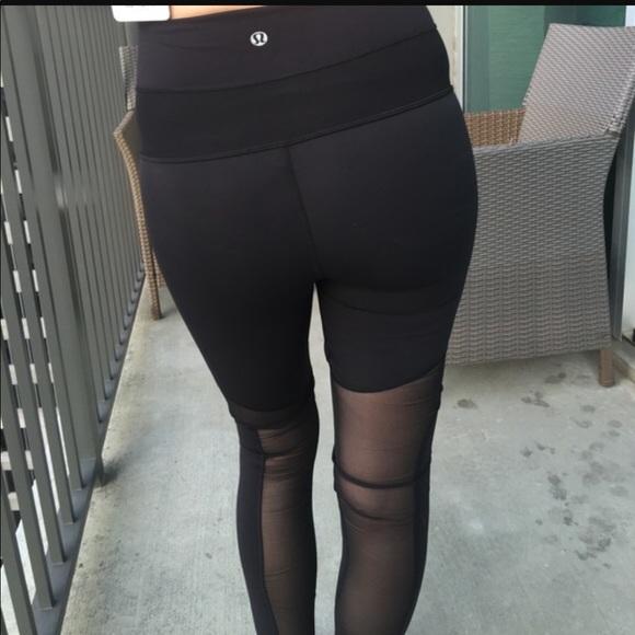 d2c31dec5 lululemon athletica Pants - Lululemon Tech Mesh High Rise Leggings