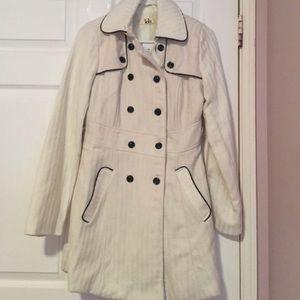 Lola Medium Length White Coat
