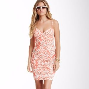 NWOT Tart Coral Diamond Ikat Janet Dress XS