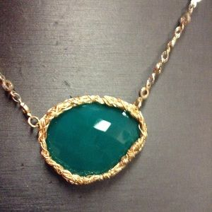 Jewelry - Gold  emerald necklace ❤️❤️❤️