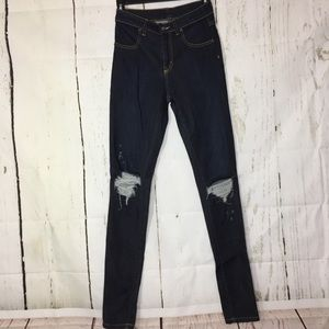 CARMAR for LF Ripped Skinny Jeans Dark Denim
