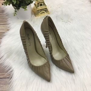 "{Elizabeth and James} Nude ""Jazz"" Button Pumps"