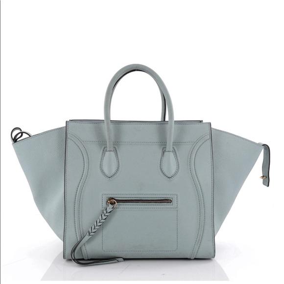 f21e97c5249 Celine Bags   Phantom Handbag Grainy Medium Jade 2016   Poshmark