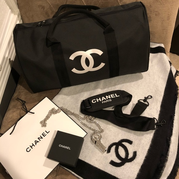 093509df7703 Authentic Chanel VIP Gift Travel Duffle Gym Bag. Listing Price: $95.00