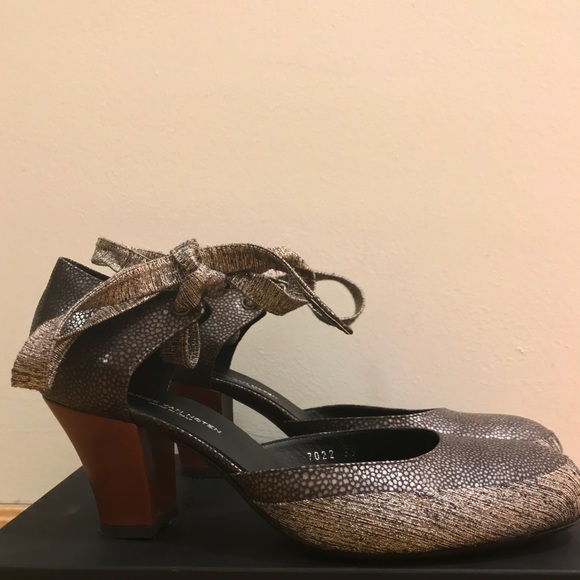 05721f1c5a01f2 Dries Van Noten Mary Jane Heels with Ankle Ties