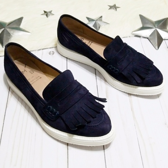 eb42885e377f Anthropologie Shoes - Anthropologie KMB blue suede shoes kipper loafer