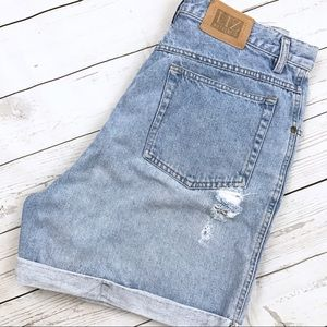 Vintage Liz High Waisted Denim Shorts