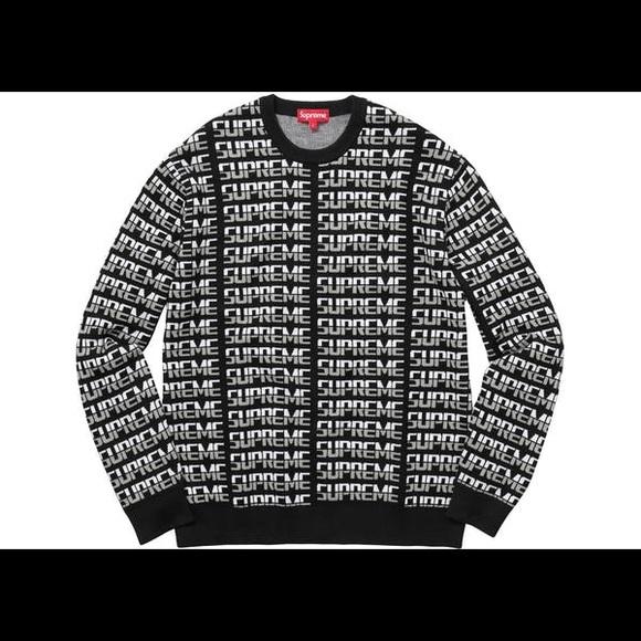 supreme sweaters repeat sweater poshmark
